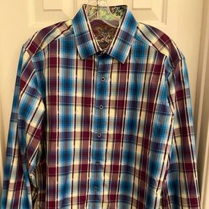 Robert Graham NWOT men's  dress shirt size M